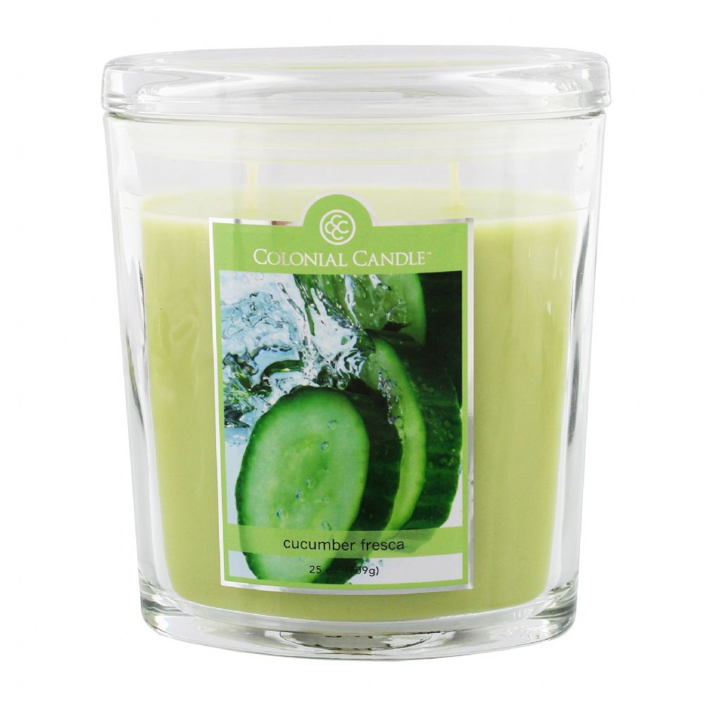 Colonial Candle Premium Large Scented Candle Cucumber Fresca
